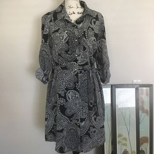 The Limited- Paisley Shirt Dress- Sz 14
